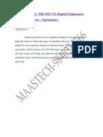 LATEST BIOMEDICAL PROJECT TOPICS-Digital Pulmonary Function Test - Spirometry