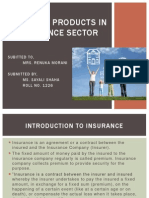 Range of Products in Insurance Sector