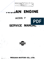 Service Manual Nissan Engine Model P