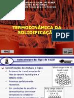 Aula 7 - Termodinâmica da solidificação