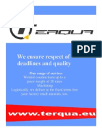 Presentation Terqua - Laser cutting Romania