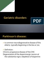 Geriatric Disorders
