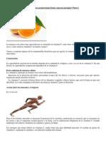 Parte I.Artículo sobre la vitamina C que nos proporcionan frutas como las naranjas