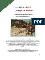 Brochure NR - Neighborly Love - Do Not Repay Evil With Evil