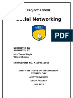 social networking project report