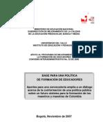Base para una politica de formacion de educadores.pdf
