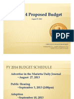 FY 2014 Proposed Budget