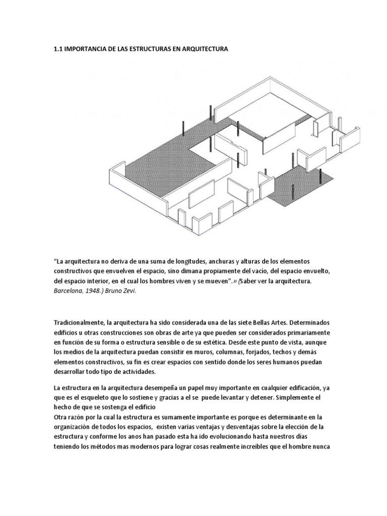 Importancia de Las Estructuras en Arquitectura