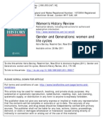 Gender and Generation (Women and Life Cycle)