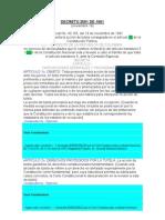 Decreto 2591 de 1991 Reglamentacion de La Tutela