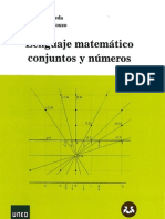 Lenguaje Matematico, Conjuntos y Numeros, UNED