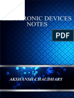 Electronic Devices Notes