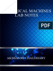 Electrical Machines Lab Notes