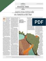 La marea rosa retrocede en América del Sur