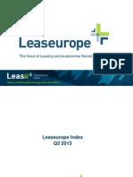 Leaseurope Index Q2 2013