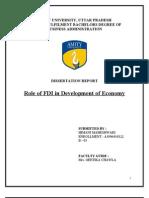 Finance - FDI - Role of FDI in Development of Economy 2