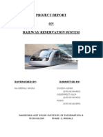 Railway Reservation Report