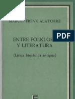 Margit Frenk - Entre Folklore y Literatura