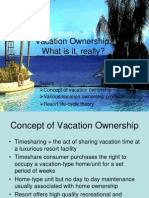 Product Life Cycle for Timeshare