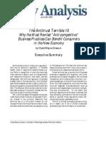 Wayne Crews, Antitrust Terrible Ten, Cato Institute Policy Analysis No 405, June 28 2001