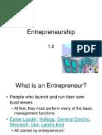 1.2 Entrepreneurship