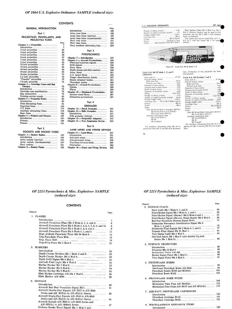 OP 1664 US Explosive Ordnance