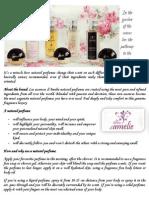 Les Essences d'Amelie Brochure