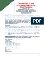 International STRESS AND BEHAVIOR Neuroscience Society (ISBS)