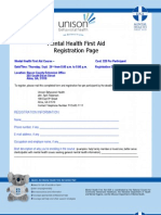 Mental Health First Aid Registration Form and Flyer September 2013 Alma GA