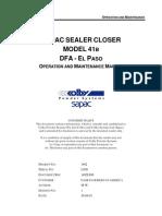 Sealer Closer-Instruction manual