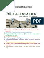 The Secrets of Millionaires