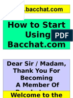 2. How to Start Using Bacchat.com