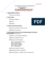 Niagara Falls School Board agenda - Aug. 29, 2013