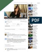 PSR - Cristina rindió examen al poder mundial, habló por cadena y se reunió a escondidas con ellos