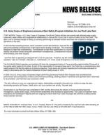USACE News Release March 26, 2012 (Joe Pool Lake Dam)