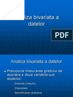 Analiza Bivariata a Datelor