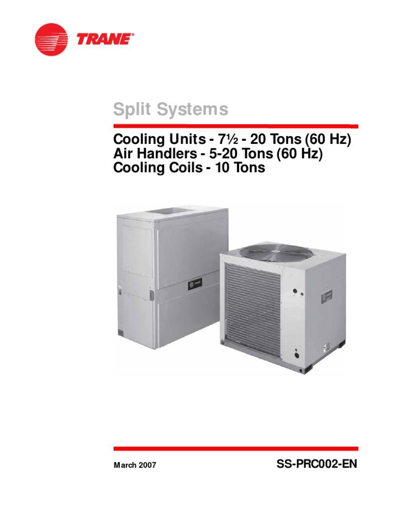 Dividido Trane Ttaa400aa-Twea100aa   Air Conditioning   Thermostat on