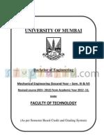 Mechanical Engineering revised syllabus