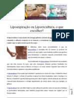 Lipoaspiração ou Lipoescultura, o que escolher.pdf