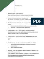 English Language Proficiency 1
