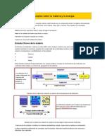 Conceptos sobre la materia y la energía FISICA II