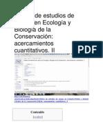 Diseño de estudios de campo en Ecología y Biología de la Conservación