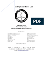DDE Price List