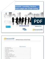 SAP Material Ledger and Actual Costing
