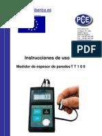 Manual Espesor Tt100