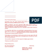 Letter for Events