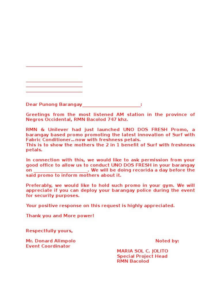 Sample Letter Invitation Competition.  Letter for Events