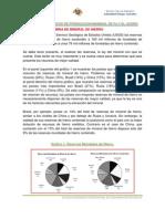 DATOS ESTADÍSTICOS DE PRODUCCION MUNDIAL DE Fe Y EL ACERO