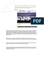 28-08-2013 Puebla Noticias - Suscribe Moreno Valle convenio de colaboración con la Unesco