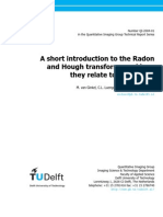 Short introduction to Radon and Hough Transform